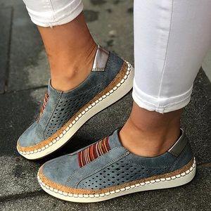 Casual Ladies Espadrilles Comfortable Flats Shoes